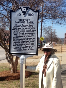 Marker with Martha Cunningham Monteith.  Wife of H.D. Monteith and former board member of Victory Savings Bank.
